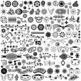 Riesige Ansammlung eindeutige vektorauslegung-Elemente Stockfotos