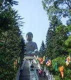 Riesige Buddha-Statue Kloster am PO-Lin stockbilder
