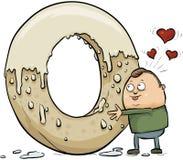 Riesige Donut-Liebe vektor abbildung
