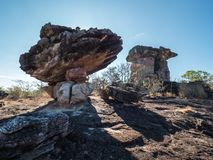 Riesige Felsensäulen in Ubonratchathani, Thailand stockfotografie