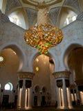 Riesige Leuchter Abu Dhabi-Moschee Lizenzfreie Stockfotos