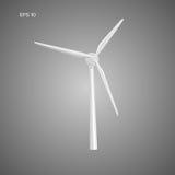 Riesige Luftturbine-Vektorillustration Generator der grünen Leistung Umweltfreundliche Energiequelle Lizenzfreies Stockfoto