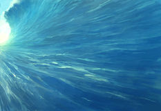 Riesige Ozean-Welle Lizenzfreies Stockfoto