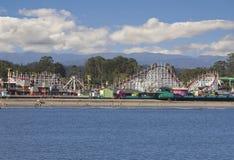 Riesige Schöpflöffel-Achterbahn Santa Cruz, Kalifornien Stockfotografie