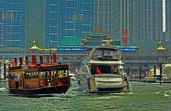Riesige sich hin- und herbewegende Gaststätte, Hong Kong Lizenzfreies Stockbild