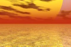 Riesige Sonne Stockbild