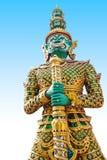 Riesige Statue im Tempel, Generalily in Thailand, irgendeine Art Kunst verziert in der buddhistischen Kirche. Sie sind public doma Stockfotografie