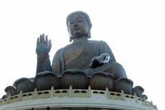 Riesige Statue von Buddha in Hong Kong Stockfotografie