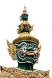 Riesige Statue an Wat-pra kaew lokalisiert auf Weiß stockbild