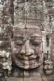 Riesige Steingesichter bei Prasat Bayon, Angkor Wat Lizenzfreies Stockbild