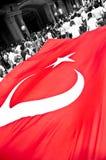 Riesige türkische Markierungsfahne Lizenzfreie Stockfotos