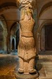 Riesiger Finne an einer Säule in Lund-Kathedrale Lizenzfreies Stockbild