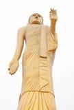 Riesiger goldener Buddha zu stehen Lizenzfreie Stockfotografie