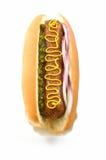 Riesiger Hotdog Stockfoto