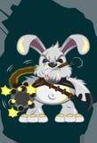 Riesiger Kaninchen-Angriff Stockbild