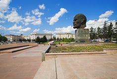 Riesiger Kopf von Lenin stockbild