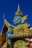 Riesiger Wächter bei Wat Phra Kaew, Tempel des Eme Lizenzfreies Stockfoto