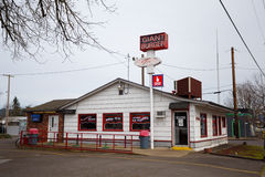 Riesiges Burger-Restaurant Springfield Oregon Stockfotografie