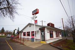 Riesiges Burger-Restaurant Springfield Oregon lizenzfreie stockfotos