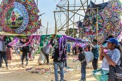 Riesiges Drachenfestival, der Allerheiligen, Guatemala Stockbild
