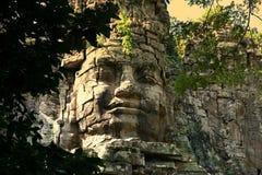 Riesiges Gesicht in Angkor Lizenzfreie Stockfotos