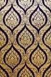 Riesiges Muster im traditionellen siamesischen Artanstrich Lizenzfreie Stockfotos