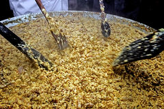 Riesiges Omelett von 1000 eggs-2 Lizenzfreie Stockfotografie