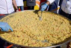 Riesiges Omelettdetail lizenzfreie stockfotografie