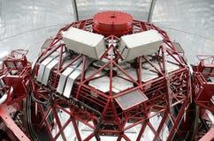 Riesiges spanisches Teleskop GTC 10 Meter Spiegeldurchmesser, in Observatorium Roque de Los Muchachos, La Palma, Kanarische Insel Stockfoto