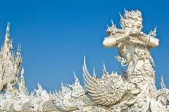 Riesiges Statue wat Rong Khun Lizenzfreie Stockfotos