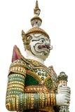Riesiges Statuenisolat auf Weiß Lizenzfreies Stockfoto