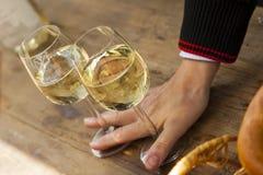 Riesling al festival di vino Fotografie Stock Libere da Diritti