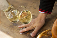 Riesling at wine festival royalty free stock photos