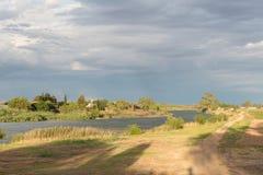 Riet河& x28; 芦苇river& x29;在里奇 图库摄影