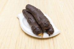 Rietchocolade royalty-vrije stock foto's