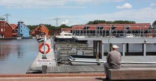 Rietdiephaven στην πόλη του Γκρόνινγκεν Οι Κάτω Χώρες Στοκ Εικόνες