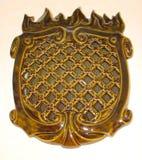 Rieten die ventilatietraliewerk van keramiekband wordt gemaakt Royalty-vrije Stock Afbeeldingen