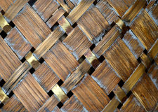 Rieten houten achtergrond Stock Foto