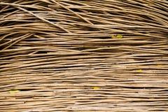 Rieten houten patroonachtergrond Stock Foto's