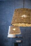 Rieten lamp royalty-vrije stock afbeeldingen