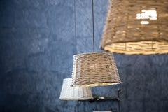 Rieten lamp stock afbeelding