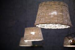 Rieten lamp Royalty-vrije Stock Foto's