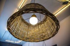 Rieten lamp royalty-vrije stock fotografie