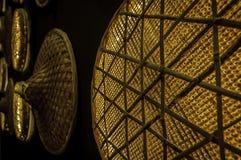 Rieten Muurlichten Royalty-vrije Stock Fotografie