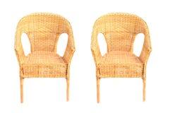 Rieten stoelen Royalty-vrije Stock Fotografie