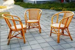 Rieten stoelen Royalty-vrije Stock Foto