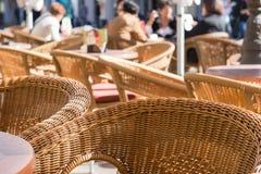 Rieten stoelen Royalty-vrije Stock Afbeelding