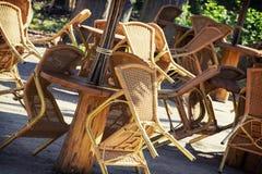 Rieten stoelen Royalty-vrije Stock Afbeeldingen