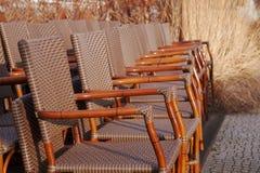 Rieten stoelen Stock Fotografie