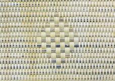 Rieten textuurachtergrond detail van weefsel naadloze textuur Stock Afbeeldingen